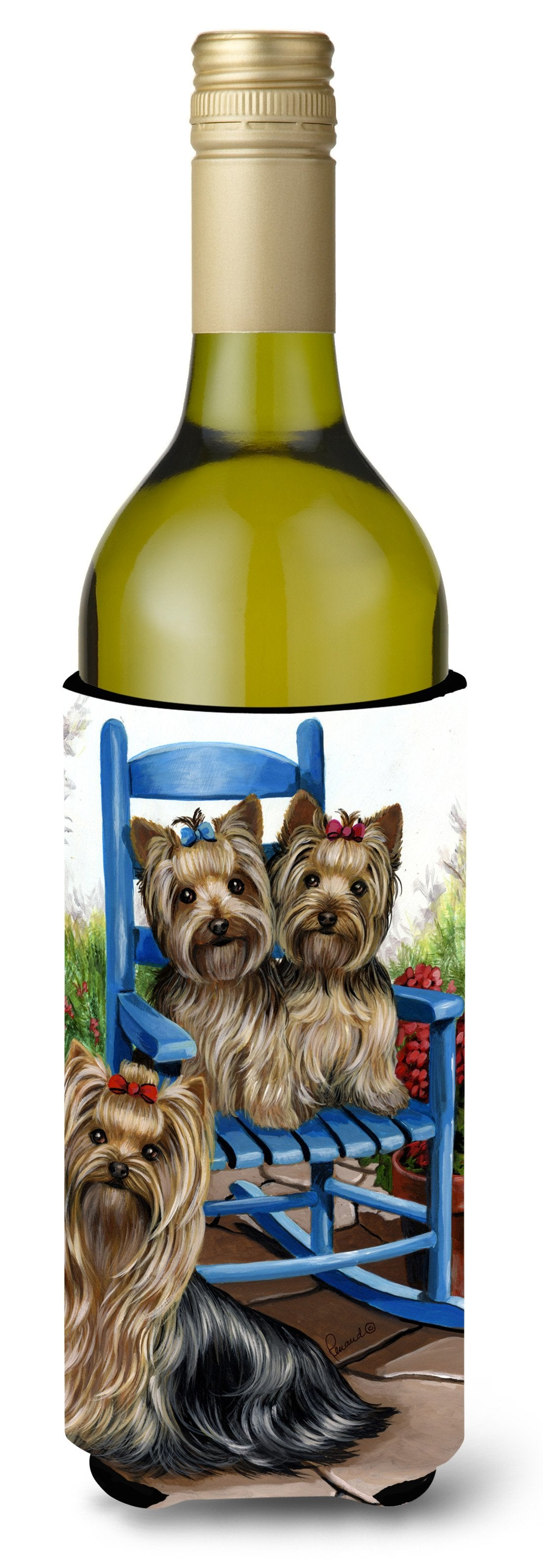 Yorkie Patio Sweethearts Wine Bottle Hugger PPP3242LITERK by Caroline's Treasures