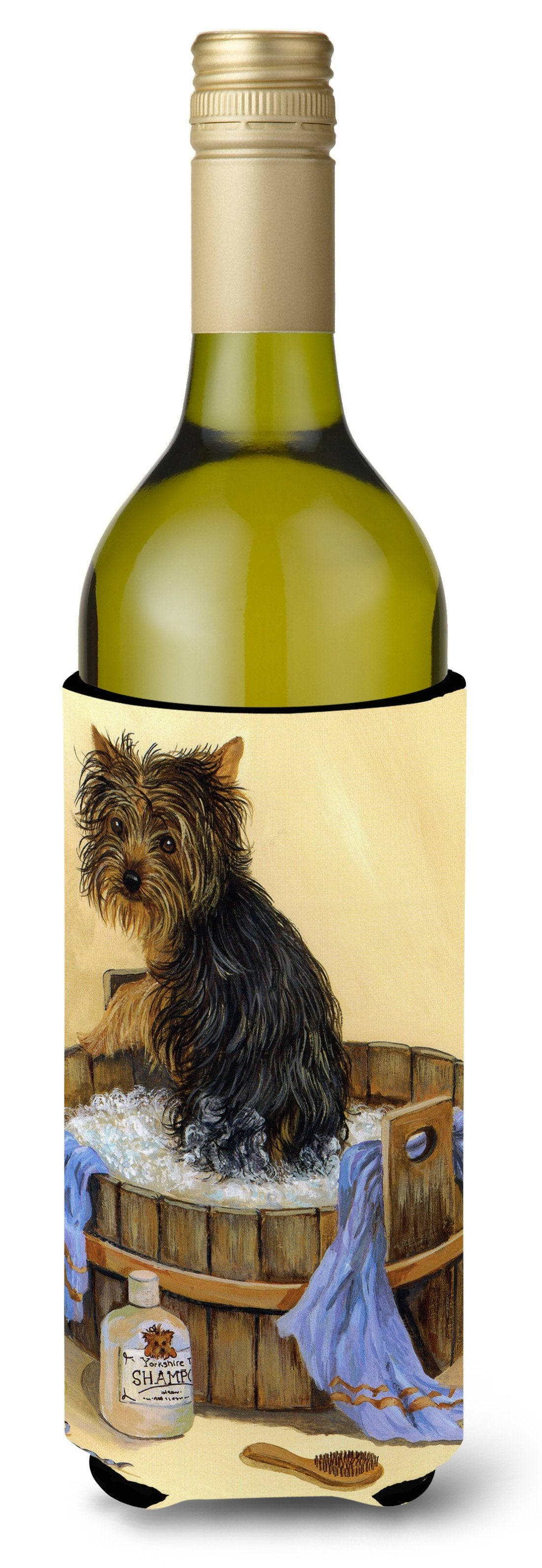 Yorkie Bath Time Wine Bottle Hugger PPP3244LITERK by Caroline's Treasures
