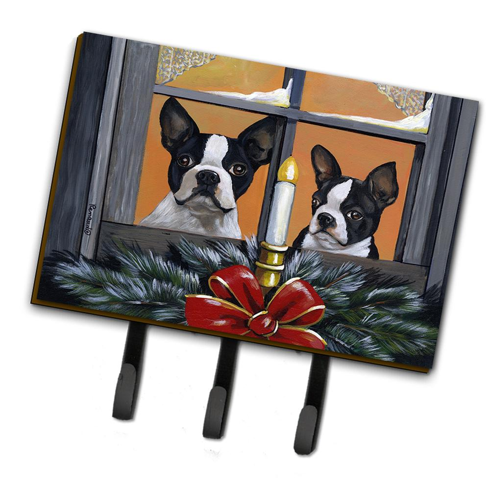 Buy this Boston Terrier Looking for Santa Christmas Leash or Key Holder PPP3248TH68