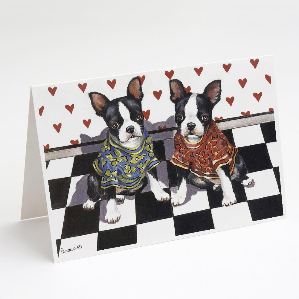 Buy this Boston Terrier Puppy Love Greeting Cards and Envelopes Pack of 8