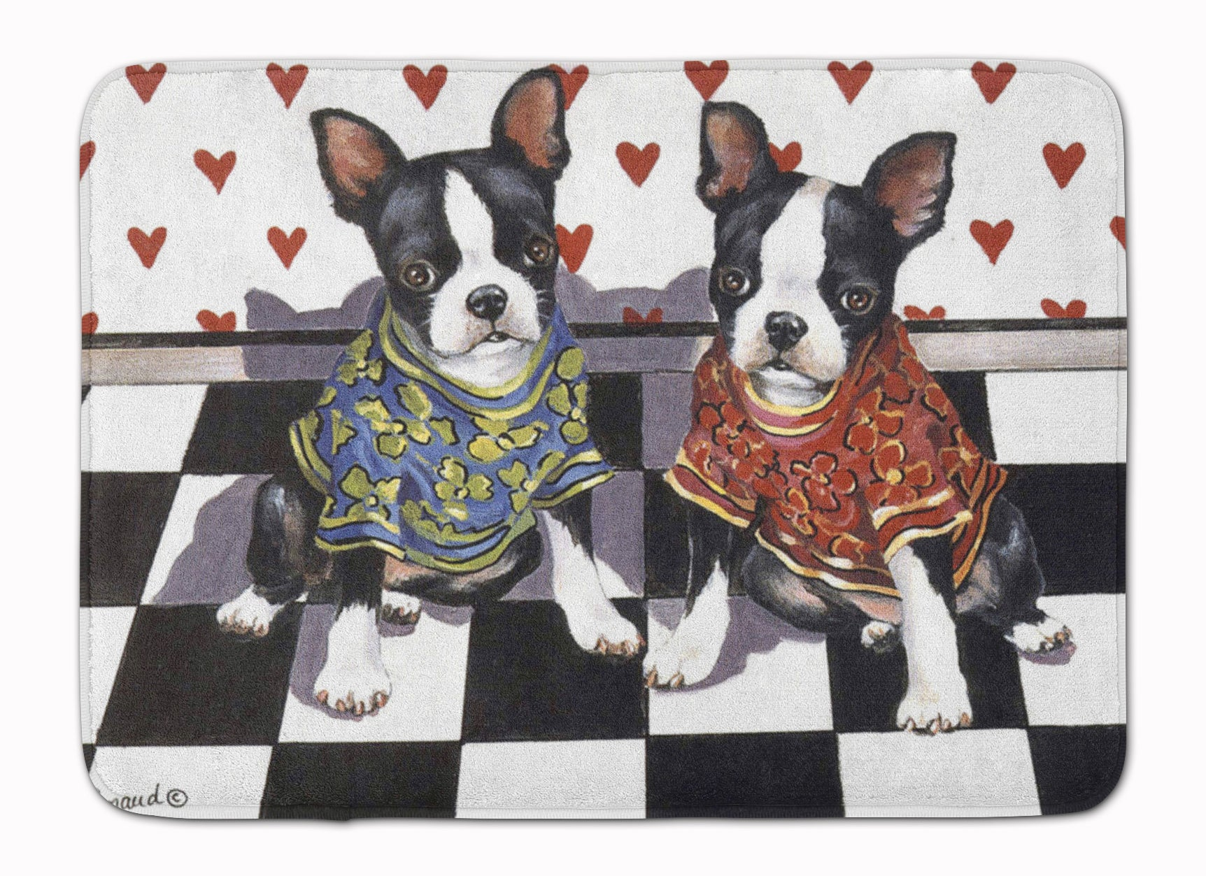 Buy this Boston Terrier Puppy Love Machine Washable Memory Foam Mat PPP3249RUG