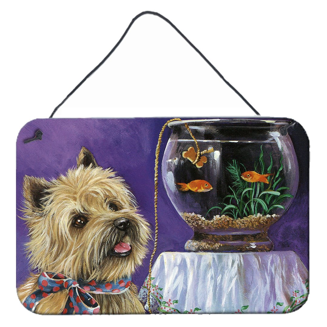 Buy this Cairn Terrier Gone Fishing Wall or Door Hanging Prints PPP3252DS812