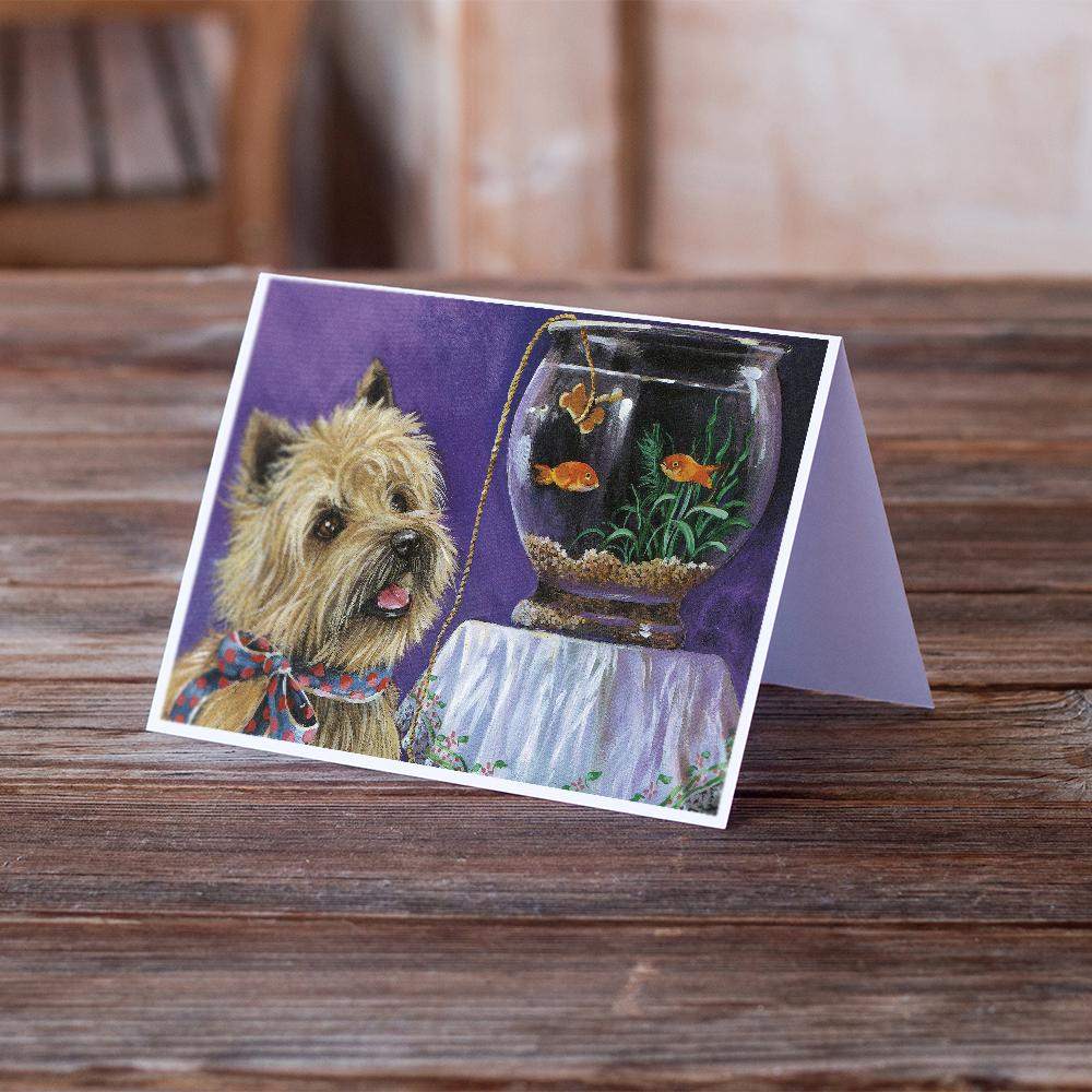Buy this Cairn Terrier Gone Fishing Greeting Cards and Envelopes Pack of 8