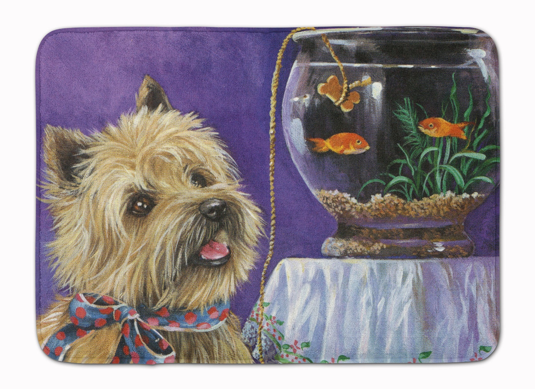 Buy this Cairn Terrier Gone Fishing Machine Washable Memory Foam Mat PPP3252RUG