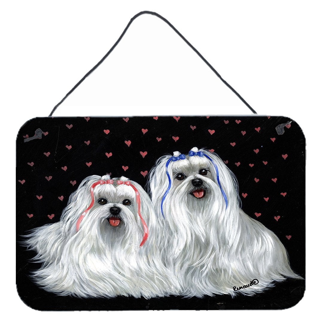 Buy this Maltese Sweethearts Wall or Door Hanging Prints PPP3263DS812
