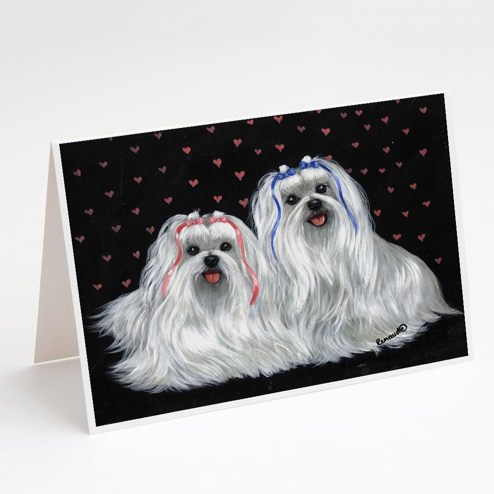 Buy this Maltese Sweethearts Greeting Cards and Envelopes Pack of 8