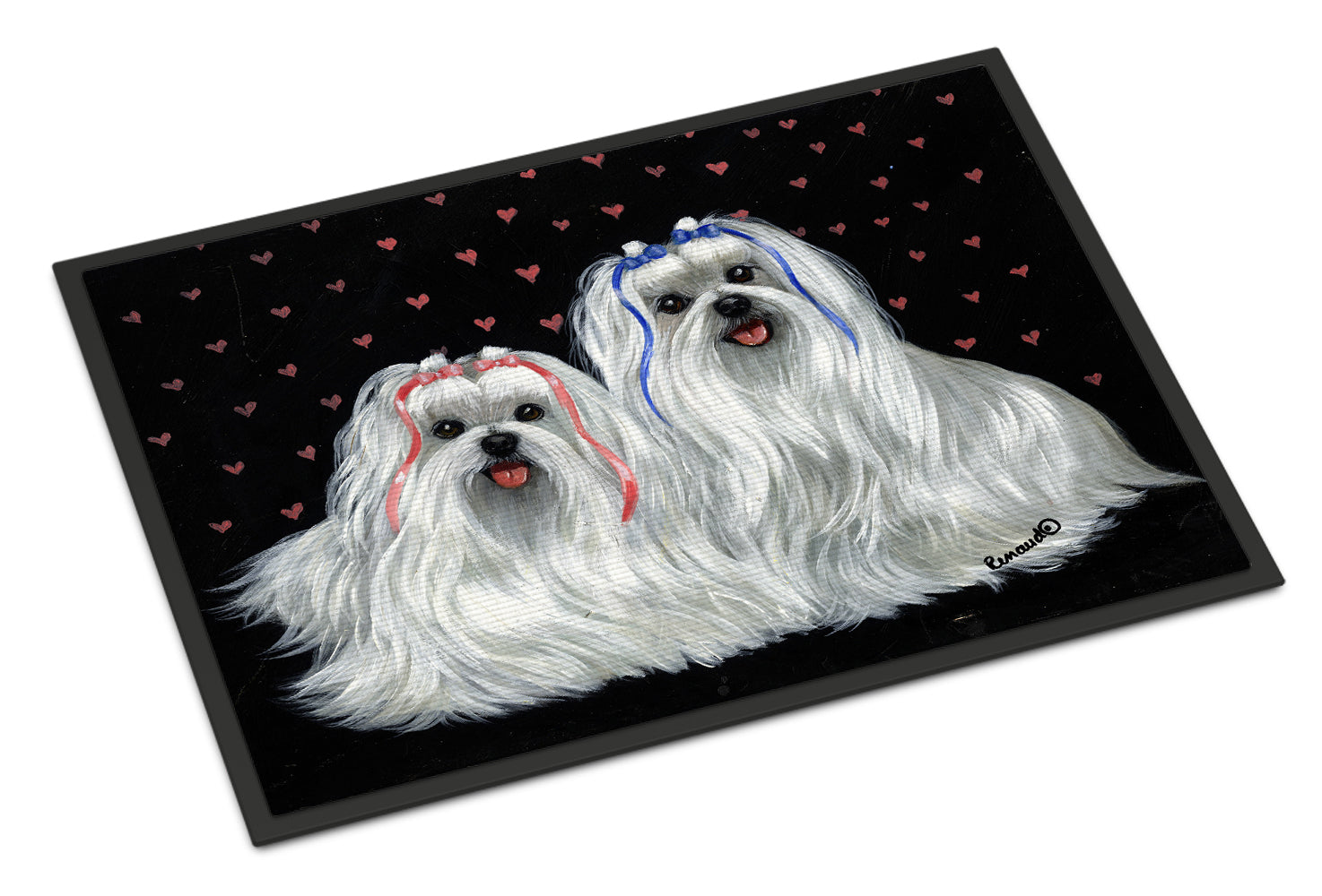 Maltese Sweethearts Indoor or Outdoor Mat 18x27 PPP3263MAT by Caroline's Treasures