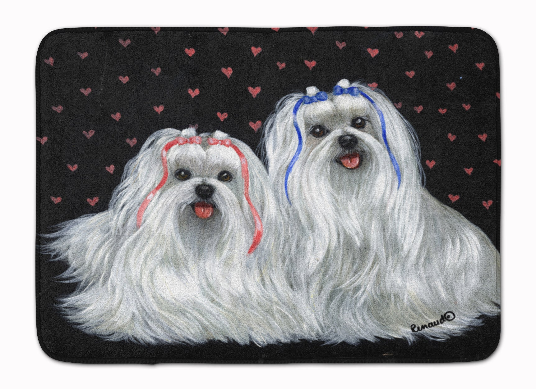 Buy this Maltese Sweethearts Machine Washable Memory Foam Mat PPP3263RUG
