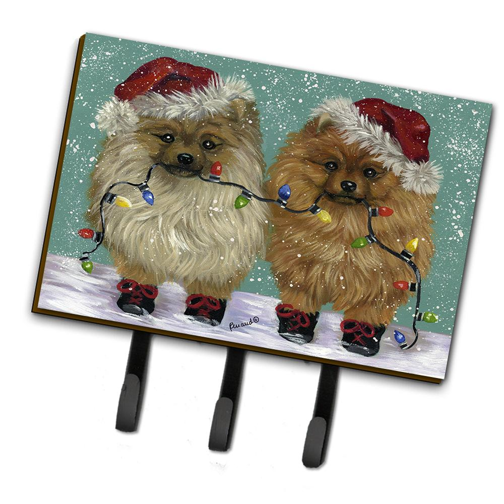 Buy this Pomeranian Christmas Lighten Up Leash or Key Holder PPP3267TH68