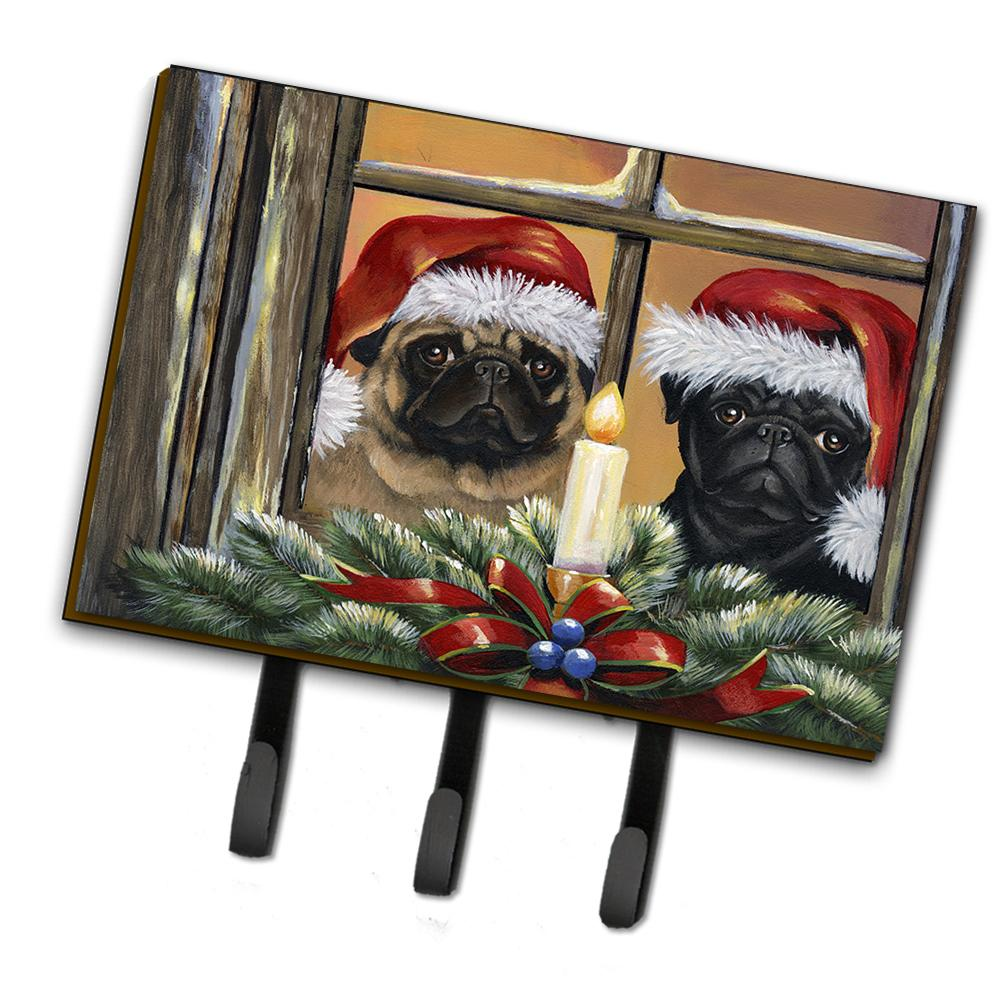Buy this Pug Christmas Anticipation Leash or Key Holder PPP3268TH68