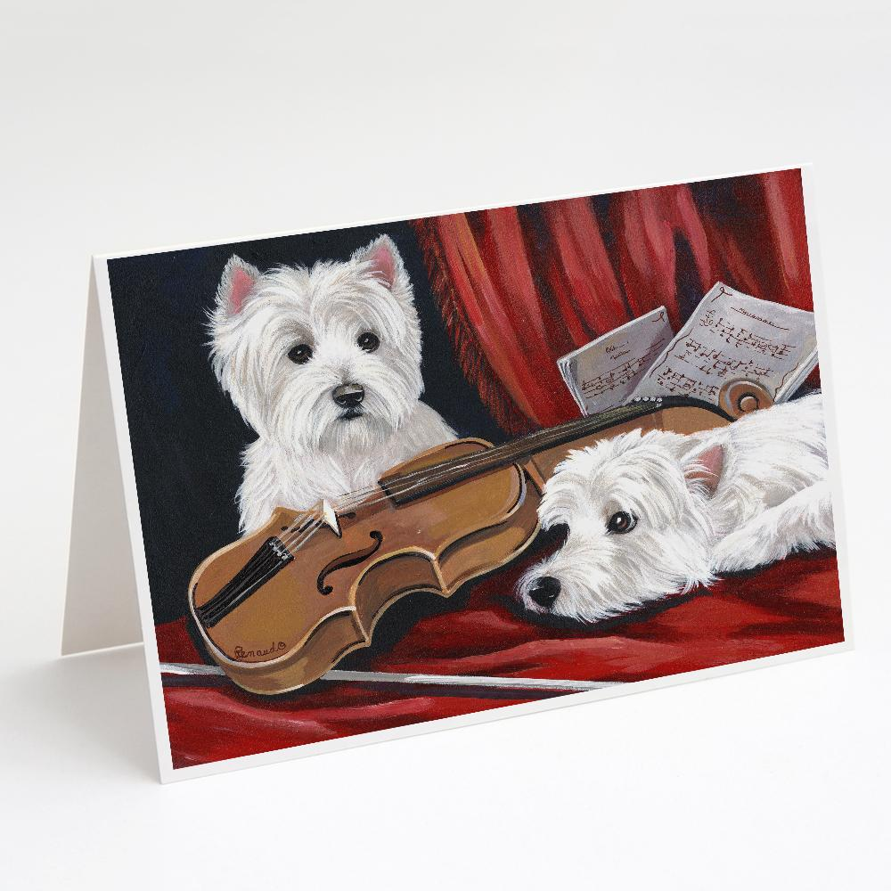 Buy this Westie Fiddlers Greeting Cards and Envelopes Pack of 8
