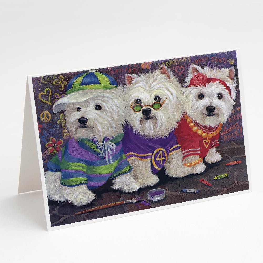 Buy this Westie Free Spirits Greeting Cards and Envelopes Pack of 8
