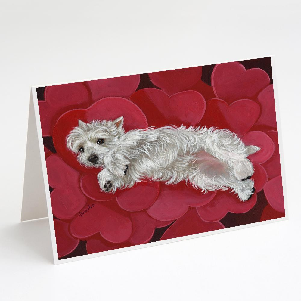 Buy this Westie Queen of Hearts Greeting Cards and Envelopes Pack of 8