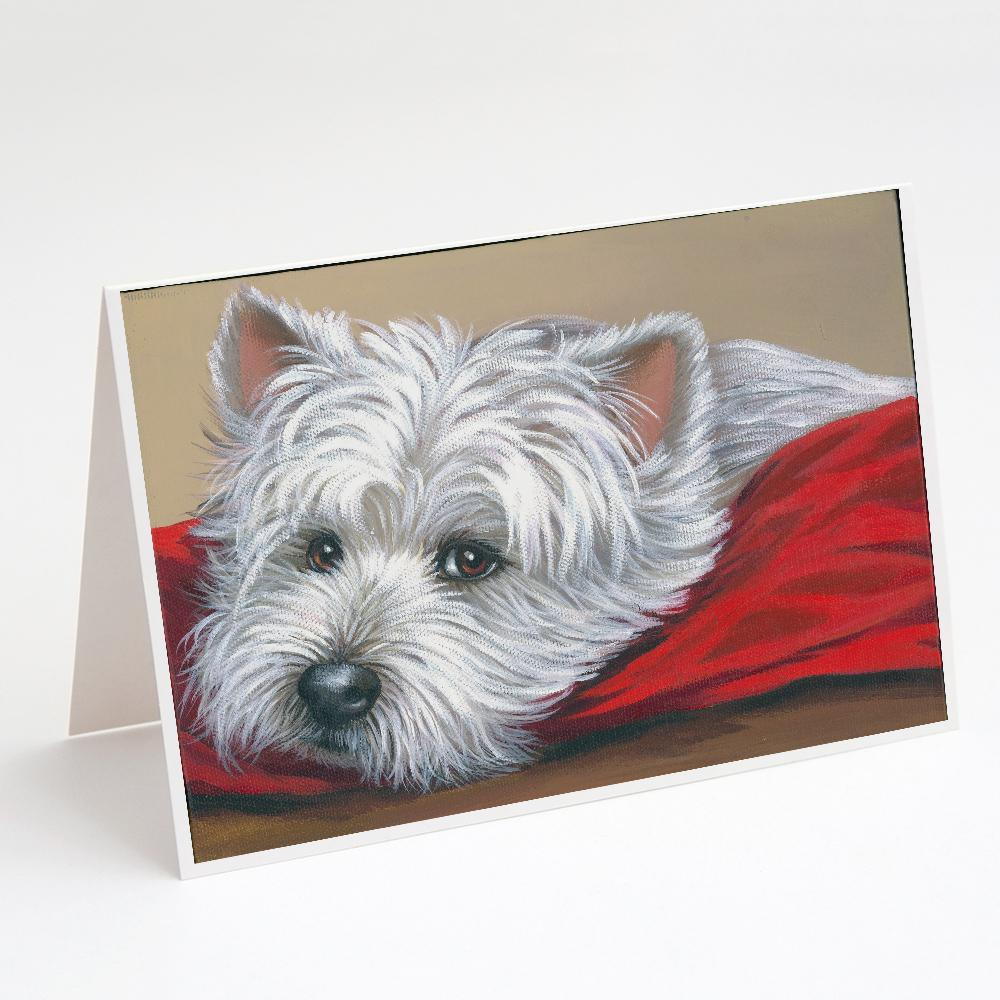 Buy this Westie Red Pillow Greeting Cards and Envelopes Pack of 8