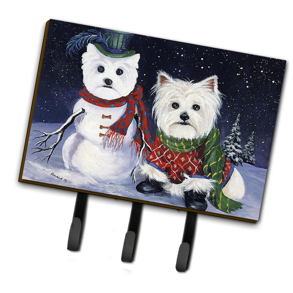 Buy this Westie Christmas Self Portrait Leash or Key Holder PPP3286TH68
