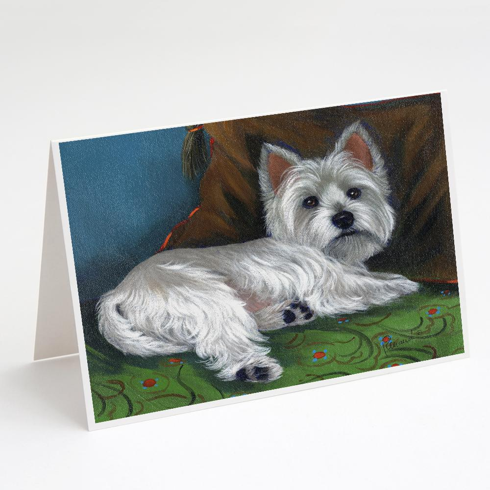 Buy this Westie Wake Up Greeting Cards and Envelopes Pack of 8
