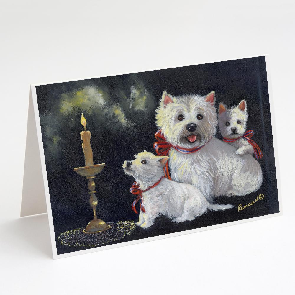 Buy this Westie Westie's Aglow Greeting Cards and Envelopes Pack of 8