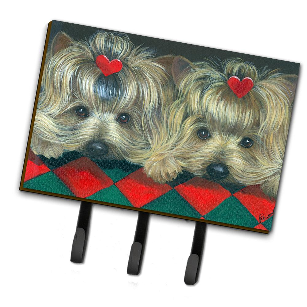 Buy this Yorkshire Terrier Yorkie 2 Hearts Leash or Key Holder PPP3290TH68