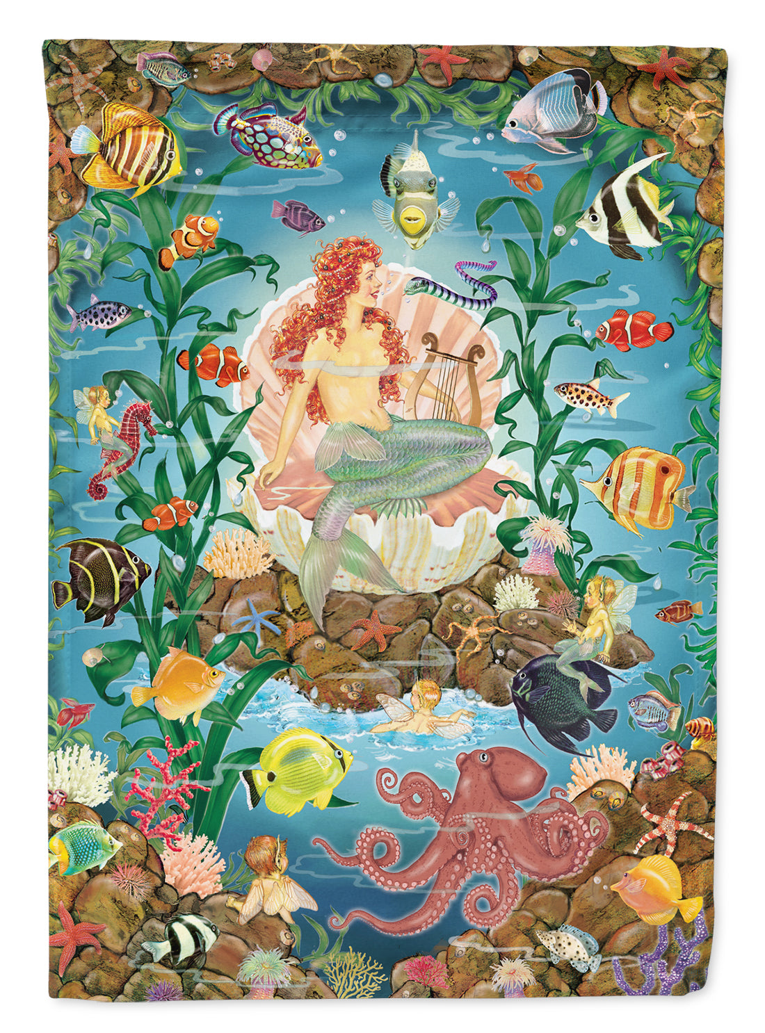 Mermaid's Song Flag Canvas House Size PRS4009CHF by Caroline's Treasures