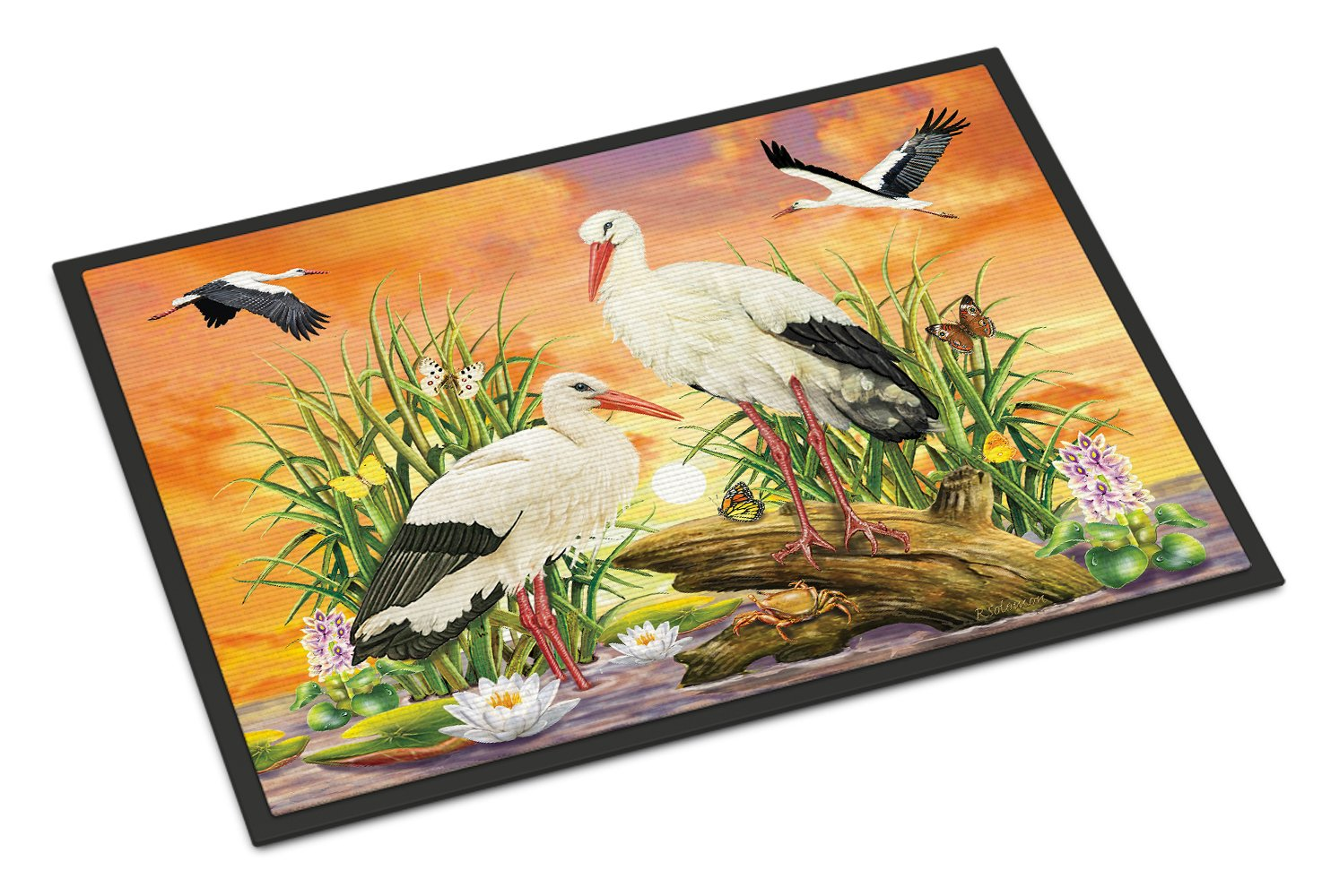 Storks Indoor or Outdoor Mat 24x36 PRS4026JMAT by Caroline's Treasures