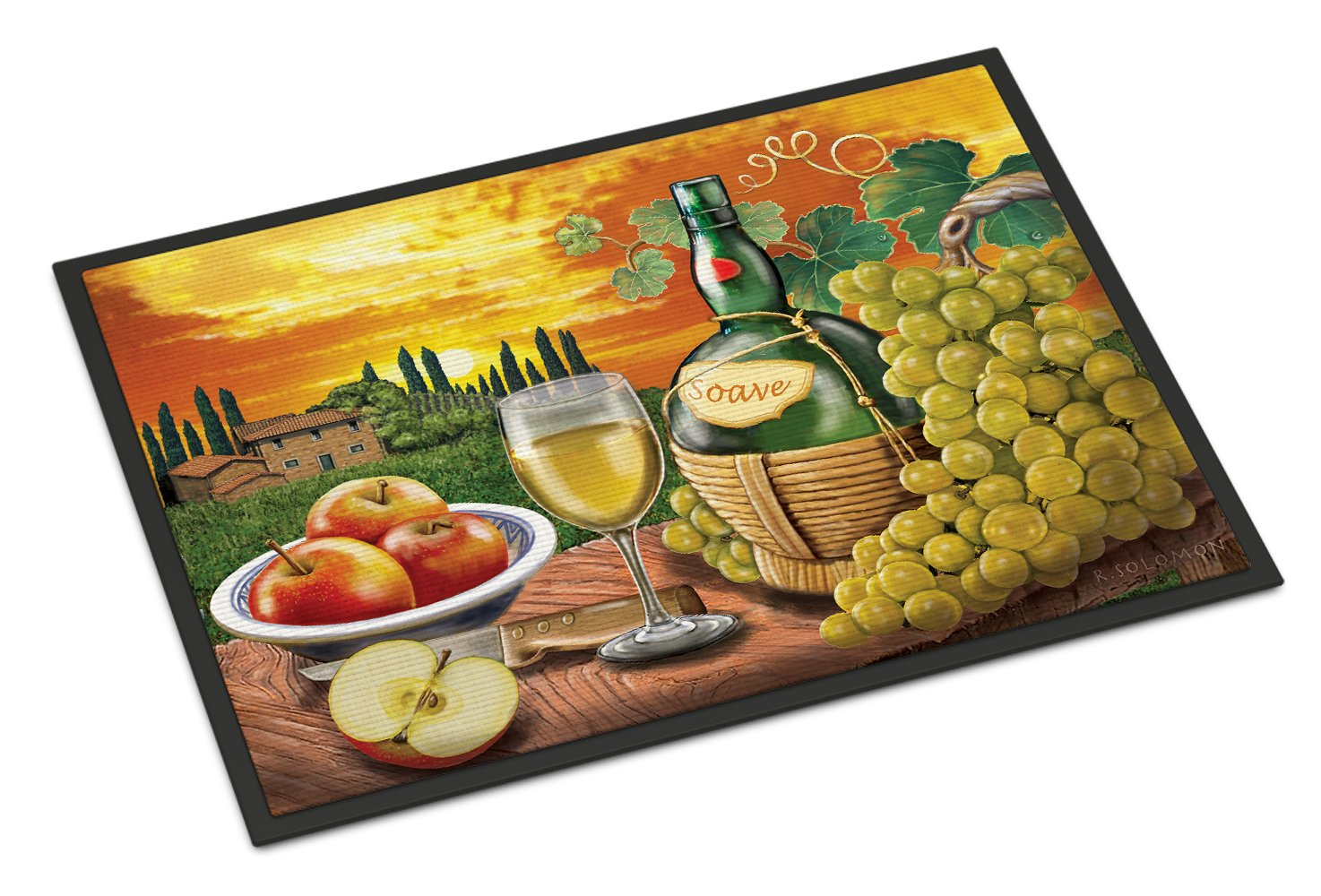 Soave, Apple, Wine and Cheese Indoor or Outdoor Mat 24x36 PRS4027JMAT by Caroline's Treasures