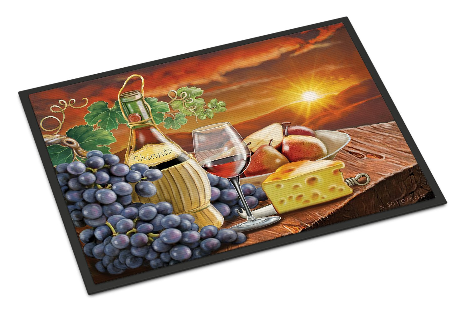 Chianti, Pears, Wine and Cheese Indoor or Outdoor Mat 24x36 PRS4029JMAT by Caroline's Treasures