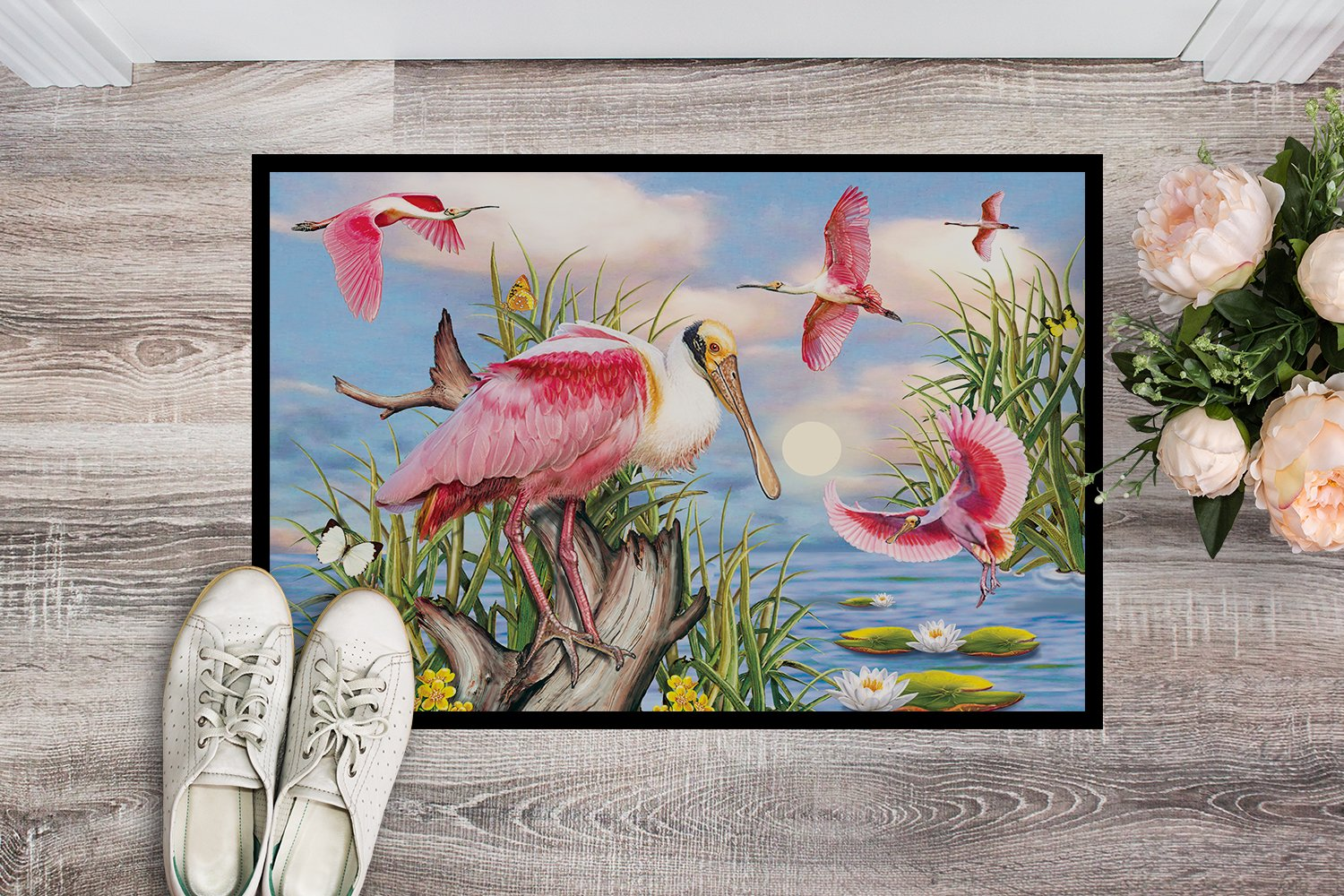Roseate Spoonbill Indoor or Outdoor Mat 24x36 PRS4036JMAT by Caroline's Treasures