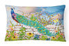 Proud Peacock Canvas Fabric Decorative Pillow PRS4040PW1216 by Caroline's Treasures