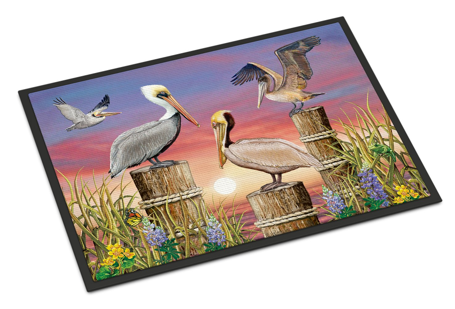 Pelicans Indoor or Outdoor Mat 24x36 PRS4041JMAT by Caroline's Treasures