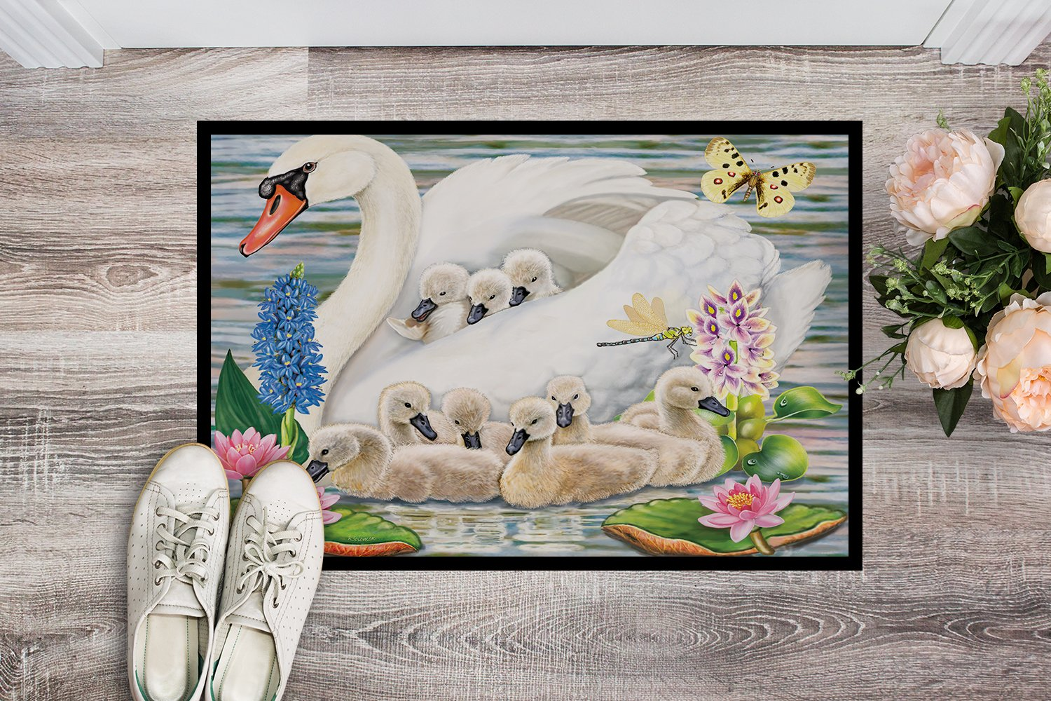 Mother Swan Indoor or Outdoor Mat 24x36 PRS4045JMAT by Caroline's Treasures