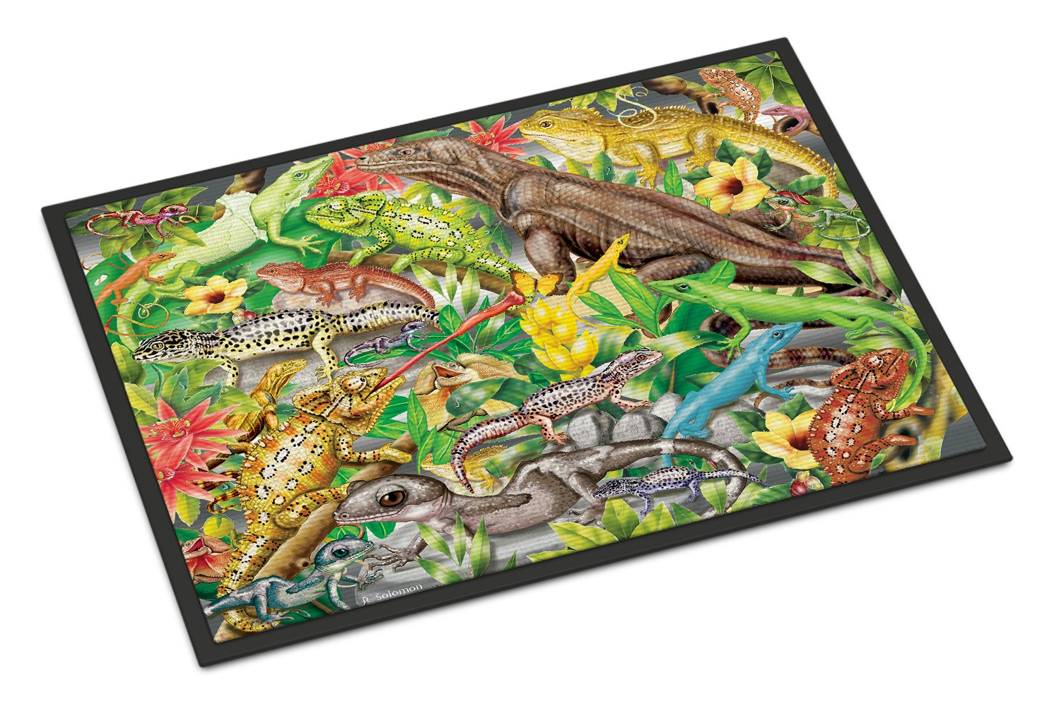 Lizard Jungle Indoor or Outdoor Mat 24x36 PRS4047JMAT by Caroline's Treasures