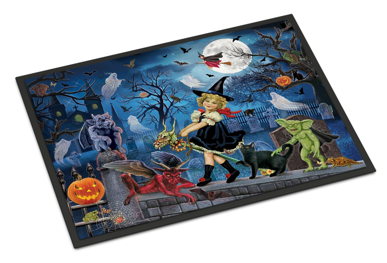 Littlest Witch's Halloween Party Indoor or Outdoor Mat 24x36 PRS4048JMAT by Caroline's Treasures
