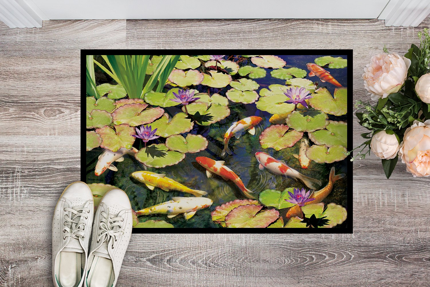 Koi Pond IV Indoor or Outdoor Mat 24x36 PRS4049JMAT by Caroline's Treasures