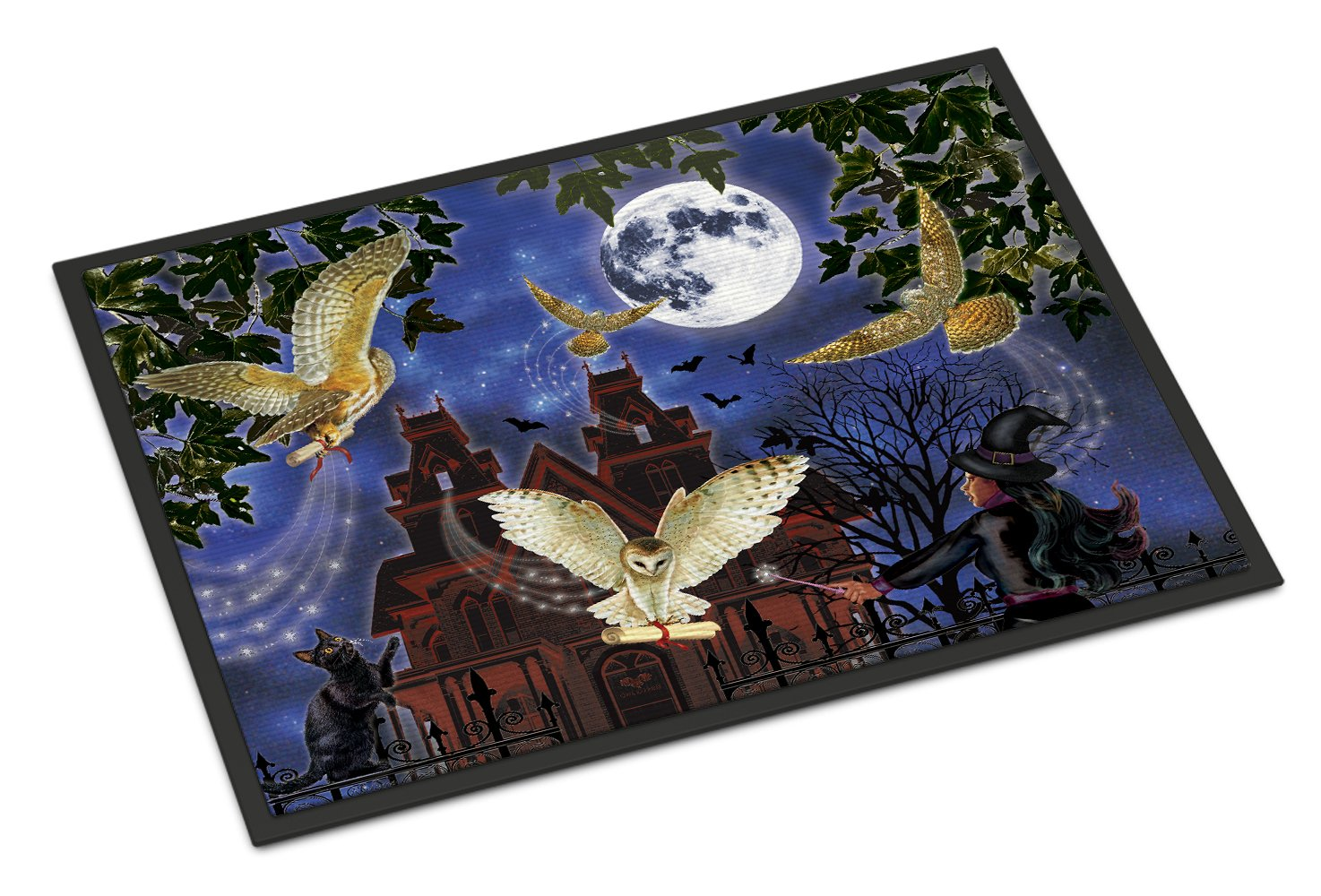 Halloween Owl Express Indoor or Outdoor Mat 24x36 PRS4051JMAT by Caroline's Treasures