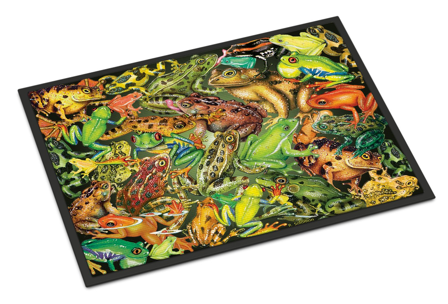 Frogs Indoor or Outdoor Mat 24x36 PRS4053JMAT by Caroline's Treasures