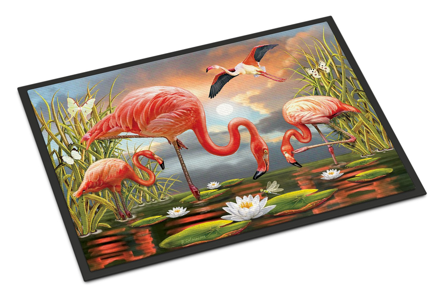 Flamingos Indoor or Outdoor Mat 24x36 PRS4054JMAT by Caroline's Treasures