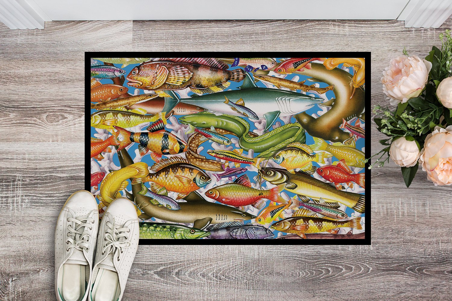 Fish of the Deep Indoor or Outdoor Mat 24x36 PRS4055JMAT by Caroline's Treasures