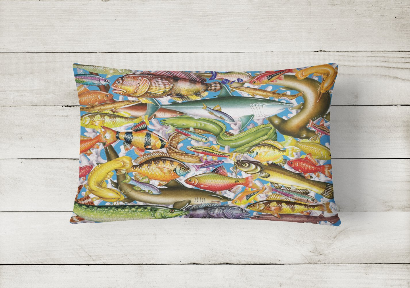 Fish of the Deep Canvas Fabric Decorative Pillow PRS4055PW1216 by Caroline's Treasures