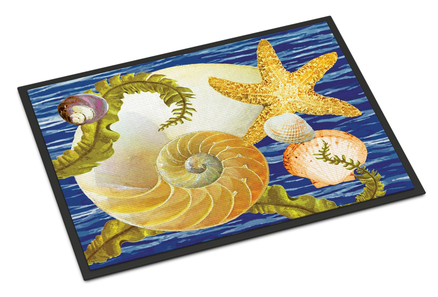 Cut Nautilus And Starfish Indoor or Outdoor Mat 24x36 PRS4056JMAT by Caroline's Treasures