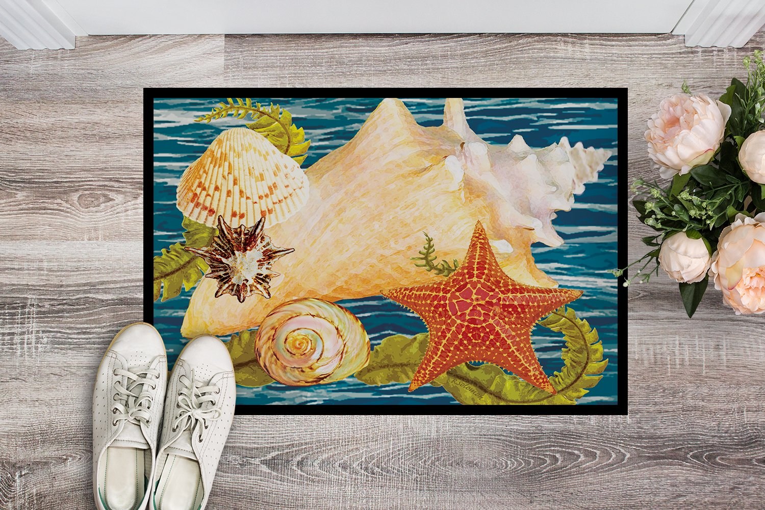 Conch Starfish And Cockle II Indoor or Outdoor Mat 24x36 PRS4057JMAT by Caroline's Treasures