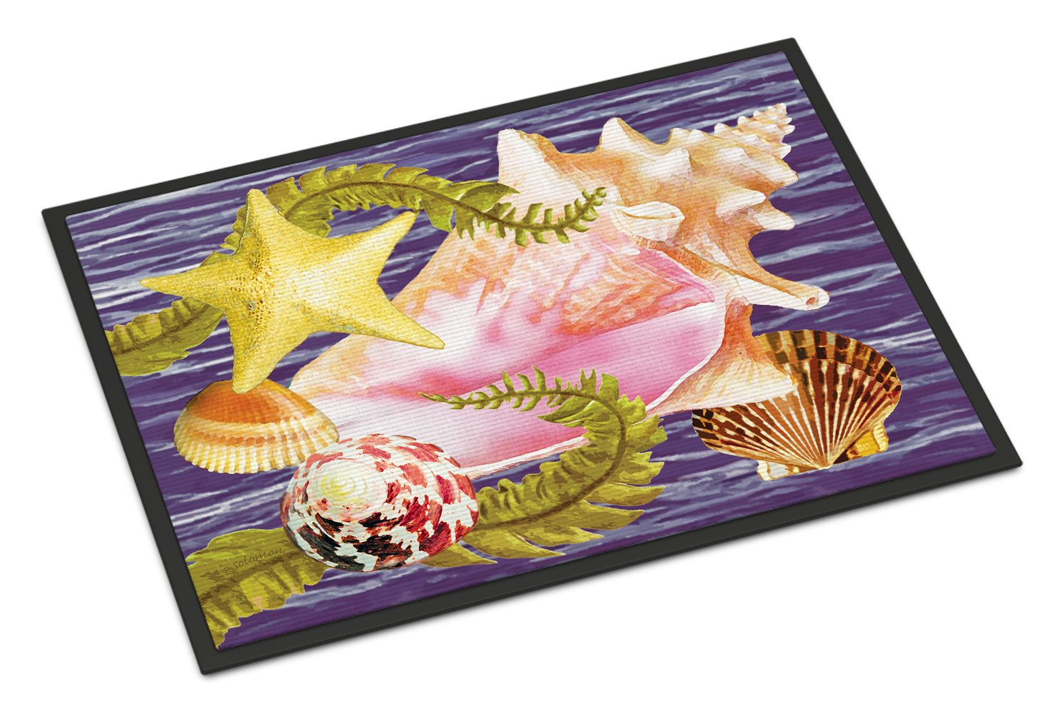 Conch And Starfish Indoor or Outdoor Mat 24x36 PRS4058JMAT by Caroline's Treasures