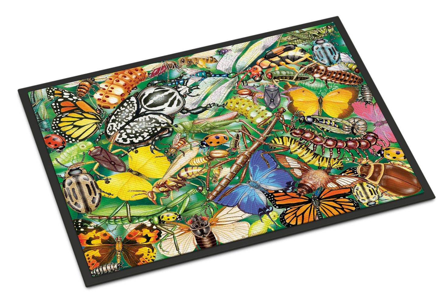 Insects & Butterflies Bug World Indoor or Outdoor Mat 24x36 PRS4059JMAT by Caroline's Treasures