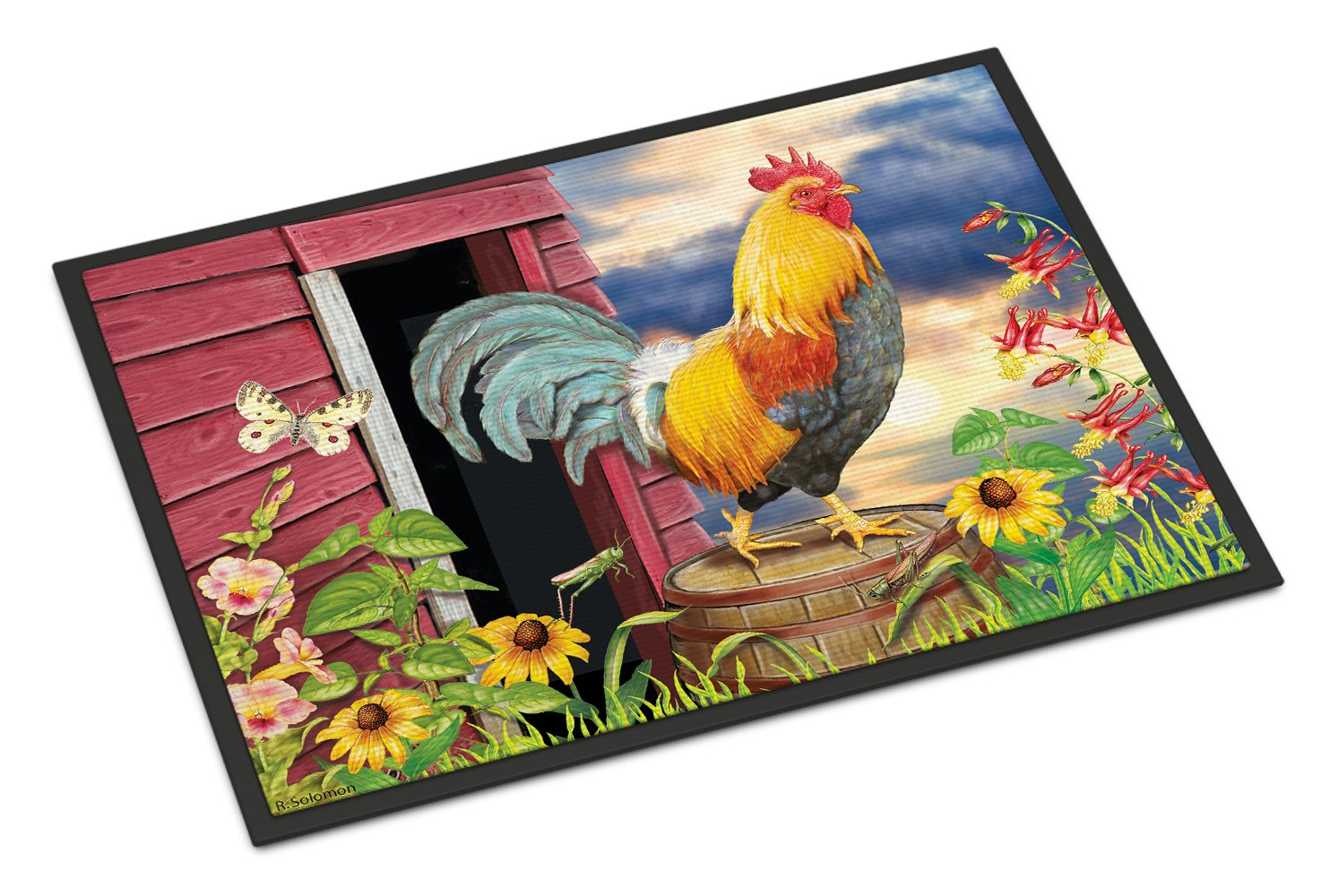 Rooster Barnyard Morning Indoor or Outdoor Mat 24x36 PRS4061JMAT by Caroline's Treasures
