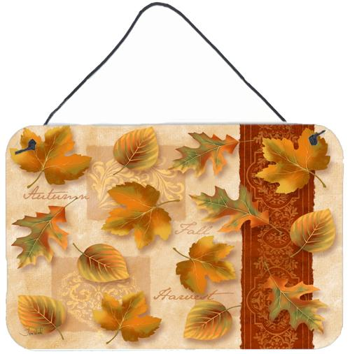 Fall Autumn Leaves Wall or Door Hanging Prints by Caroline's Treasures