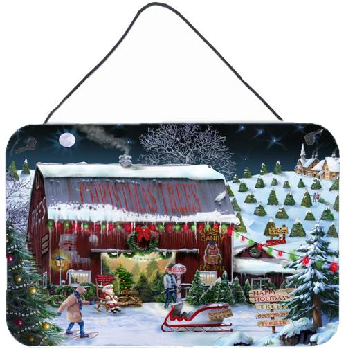 Christmas Tree Farm Wall or Door Hanging Prints PTW2002DS812 by Caroline's Treasures