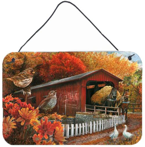 Buy this Fall Covered Bridge Wall or Door Hanging Prints PTW2004DS812