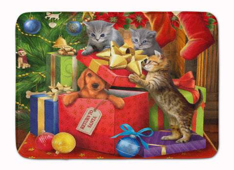 Buy this Kittens Return Puppy to Santa Claus Machine Washable Memory Foam Mat PTW2010RUG