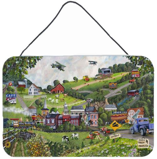 Summer in Small Town USA Wall or Door Hanging Prints by Caroline's Treasures