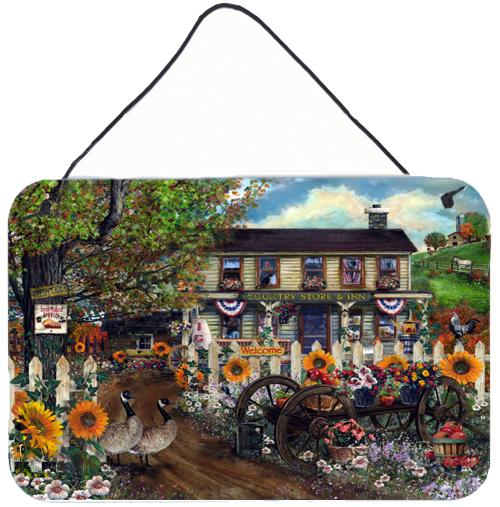 Sunflowers and The Old Country Store Wall or Door Hanging Prints PTW2016DS812 by Caroline's Treasures