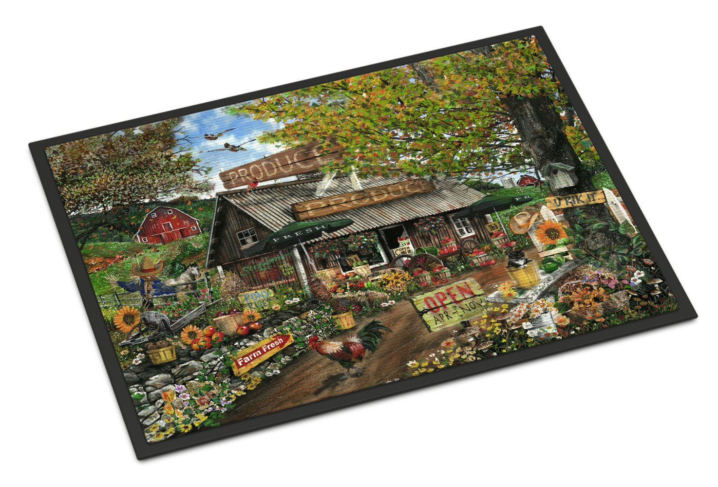 The Produce Fruit Stand Indoor or Outdoor Mat 18x27 PTW2017MAT by Caroline's Treasures